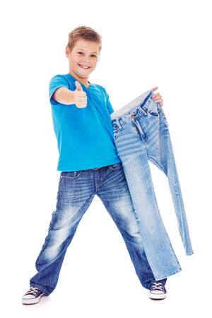 Boy with jeans Stock Photo - 15893864