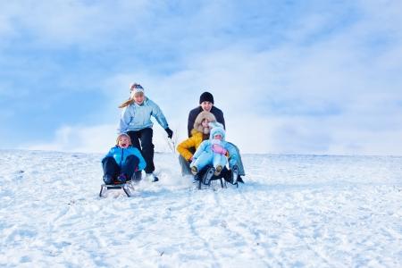actividades recreativas: Trineo de equitaci�n tiempo libre en invierno