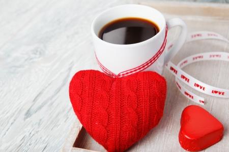 Romantic morning valentine greetings coffee and sweet heart stock romantic morning valentine greetings coffee and sweet heart stock photo 16953256 m4hsunfo