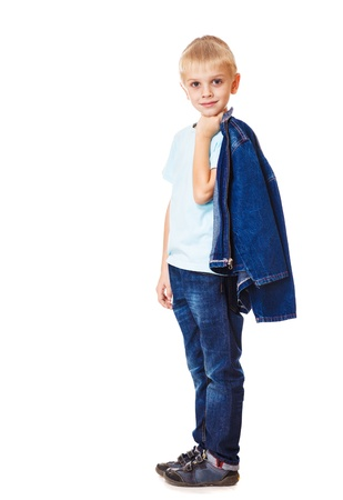 Boy in denim clothing, isolated Stock Photo - 17798592