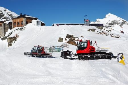 snowcat: Snowcat vehicles in winter Alps