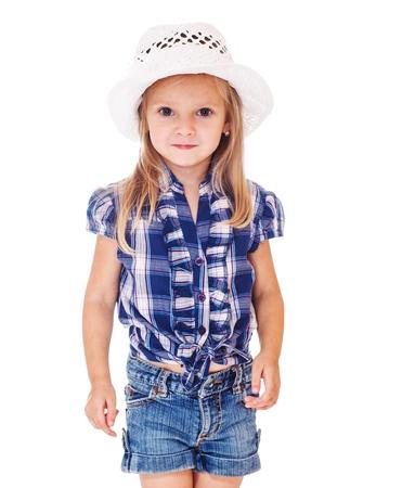 Portrait of a beautiful preschool girl