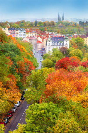prague: Beautiful autumn in the capital of Czech Republic Stock Photo