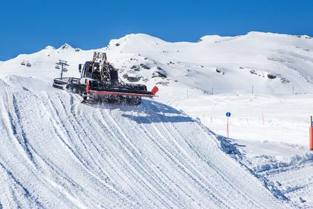 snowcat: Snowcat preparing a slope at skiing resort