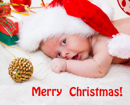 Christmas baby and decoration