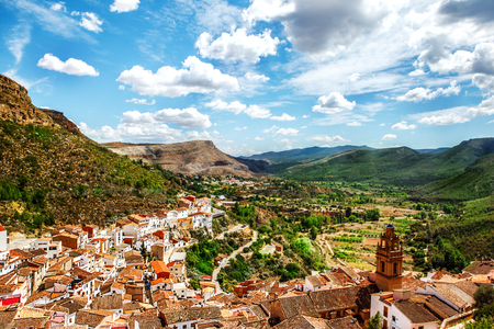 spanish culture: View on Chulilla, a Spanish village placed in the mountains