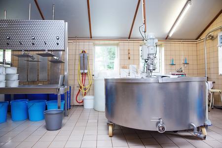 Interior of an artisanal farmhouse cheese manufacture