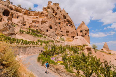 ancient times: Soft rocks of volcanic origin with caves used to serve as rooms and churches in ancient times. Cappadocia, central Turkey