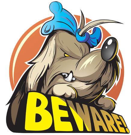 cartoon dog: Angry dog cartoon style