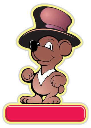 Teddy bear cartoon style