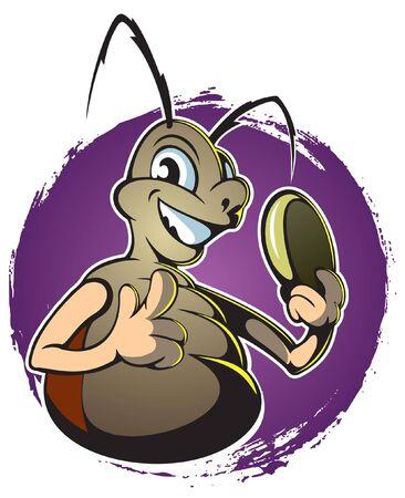 Cartoon style roach