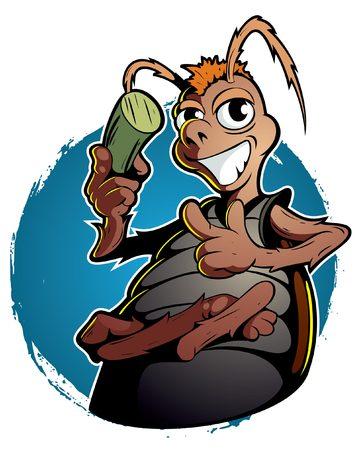 style: Cartoon style roach
