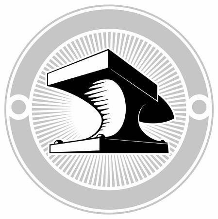 Blacksmith anvil, vector logo design concept. Иллюстрация