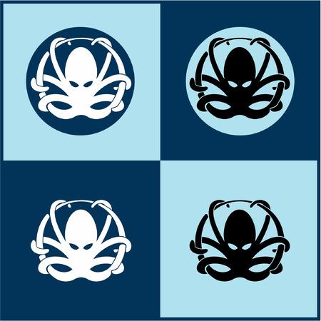 Octopus layout design idea. Фото со стока - 91585003