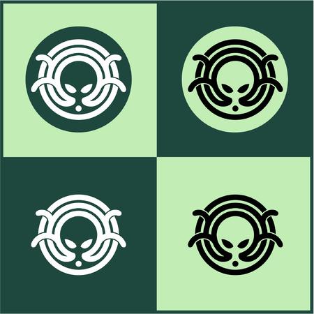 Octopus icon, octopus logo, vector image.
