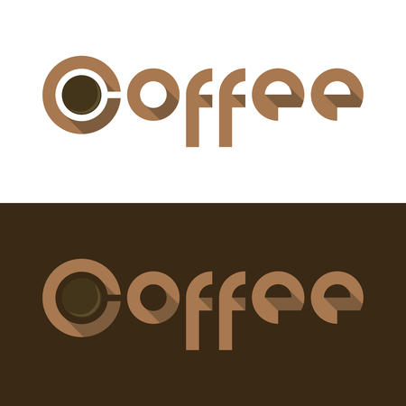 demitasse: Vector illustration for flat Coffee  with cup Stock Photo