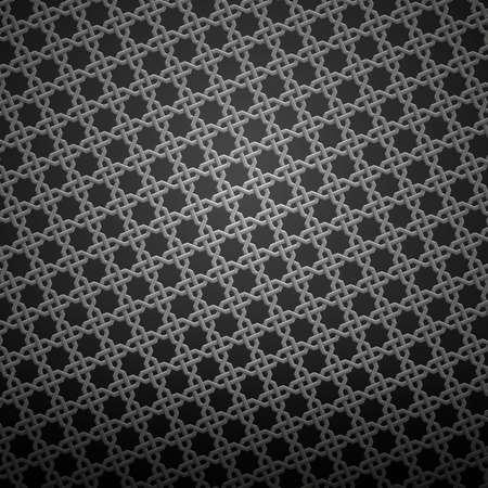 gauze: dark background ornament with seamless hexagonal pattern