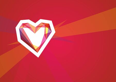 ardor: Figure for St. Valentines Day with red heart Stock Photo
