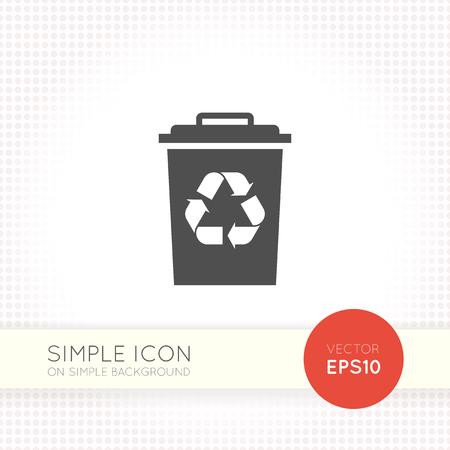 urn: Flat Recycle Garbage tank icon. Recycle bin icon eps. Trash bin vector illustration.