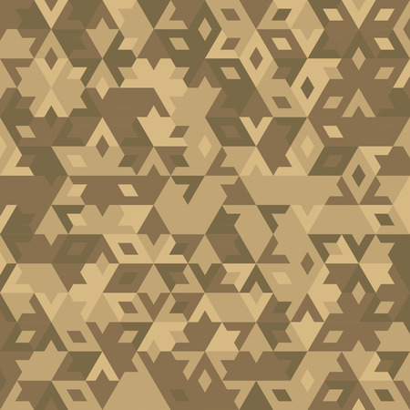 abstract geometric bege desert seamless background with colored triangles for textile, backdrop or banner Ilustração