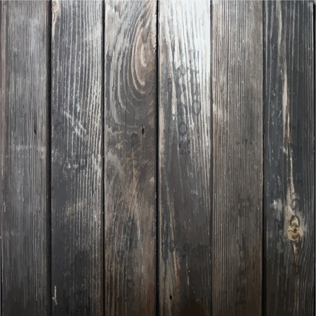 weathered wood: background with realistic texture of natural dark wood Illustration