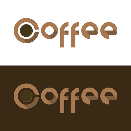 demitasse: illustration for flat Coffee logo with cup Illustration