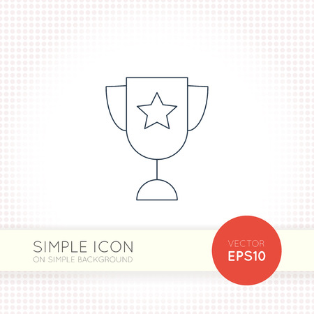 Extra thin line design universal goblet icon. AI illustration element for user interface of website or application. Eps with simple goblet object isolated on white background.