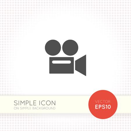 Retro video camera flat icon. Camera icon.