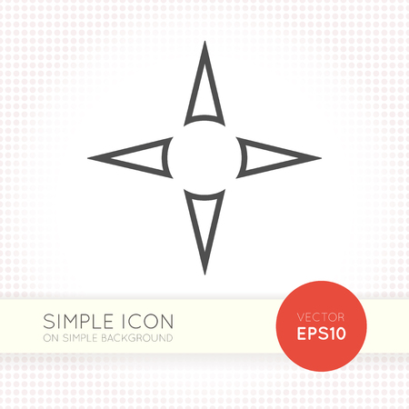 navigation panel: Flat nawigation arrows icon. Universal arrow eps. Navigation panel AI illustration element for user interface of website or application. Eps with simple black arrow object isolated on white background.