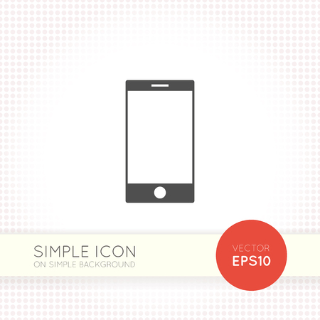 ai: Universal flat phone icon eps. Mobile phone AI. Element for user interface of site, page, application, portfolio.