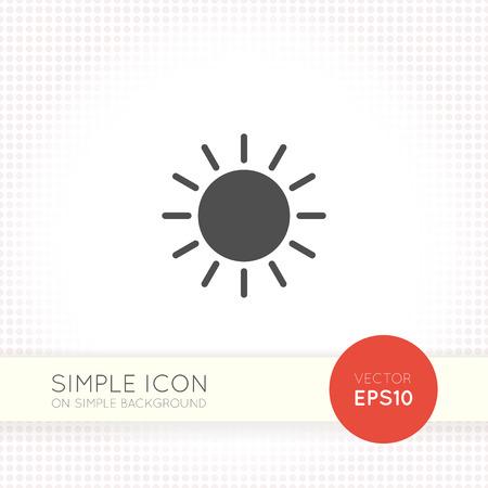 sol icono. sol icono. sol Icon Art. sol icono eps. sol Icono Img. sol Icono de logotipo. signo de icono de sol. sol icono UI. icono de la web de sol. icono de sol en fondo simple