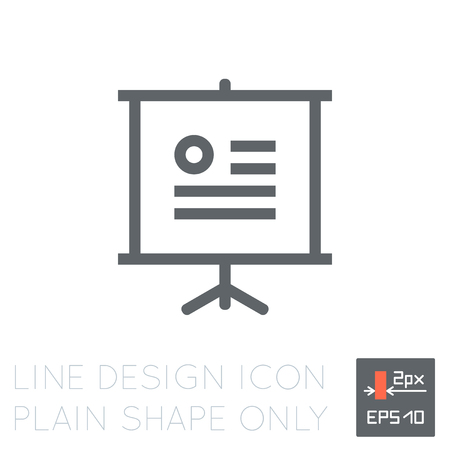 ai: Line design clipboard icon. Ai element for user interface of site, page, application, portfolio. 2 pixel thickness strokes eps. Isolated clipboard object on white background jpg.