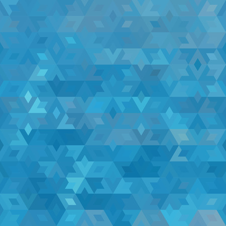 abstract geometric blue ocean seamless background with colored triangles for textile, backdrop or banner Illustration