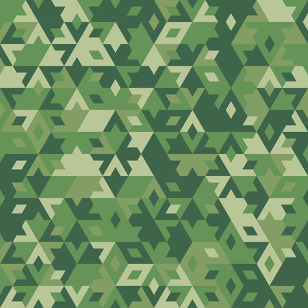 concealment: abstract geometric green forest seamless background with colored triangles for textile, backdrop or banner Illustration