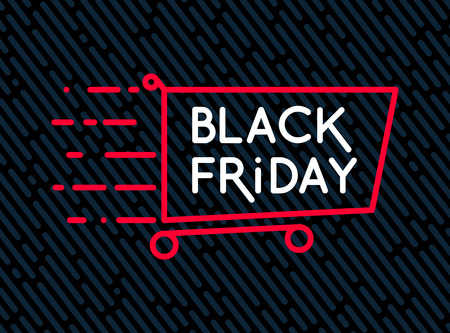 Black Friday sale inscription design template. Illusztráció