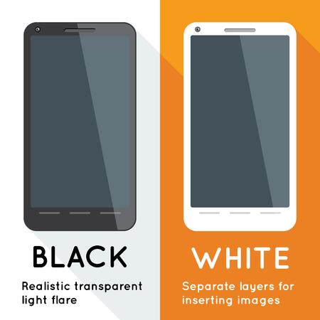 Two smartphones Vector illustration.