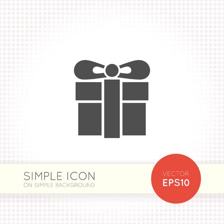 Gift box icon, vector illustration. Flat design style isolated on plain background. 일러스트