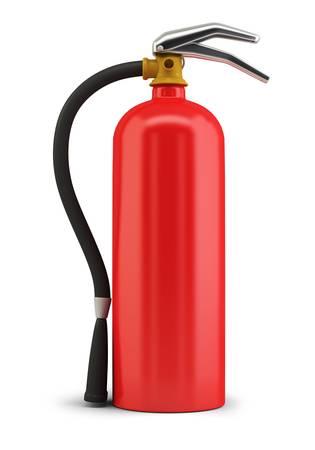 extinguish: Fire extinguisher. 3d image. Isolated white background.