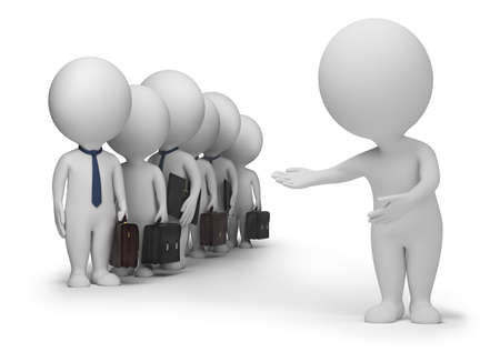 3d small people has resulted new clients. 3d image. Isolated white background. Stock Photo - 8196486