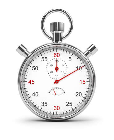 interval: Stopwatch. 3d image. Isolated white background.