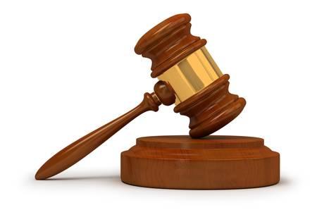 Judge gavel . 3d image. Isolated white background.