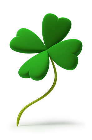 Clover by St. Patricks Day. 3d image. Isolated white background. photo
