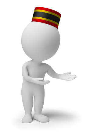 bellboy: 3d small people - bellboy in an