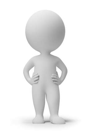 3d small people. 3d image. Isolated white background.