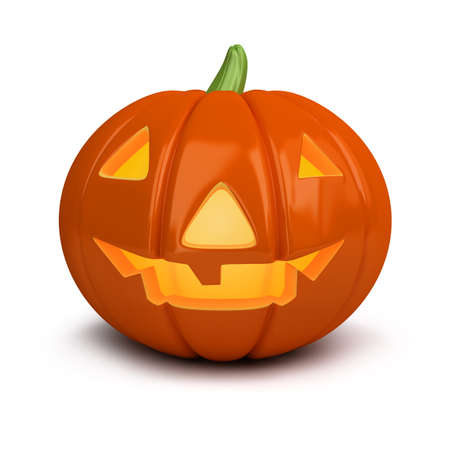 3d image. Festive pumpkin. Halloween. Isolated white background. photo