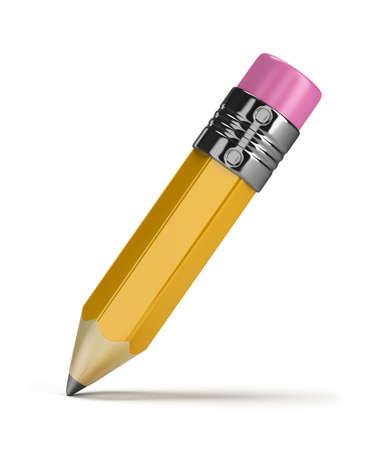 grafito: mina de lápiz. Imagen en 3d. Aislado fondo blanco. Foto de archivo