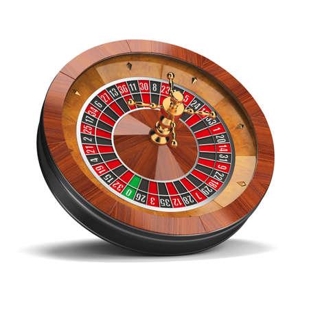 roulett: Roulette-Rad. 3D-Bild. Isoliert wei�en Hintergrund. Lizenzfreie Bilder