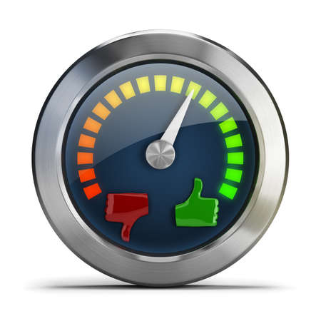 Mood meter  3d image  Isolated white background  Banque d'images