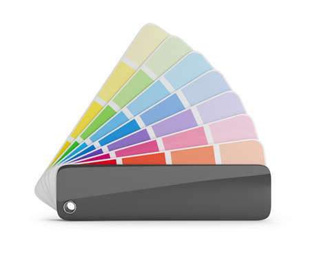 Color palette guide  3d image  White background  photo