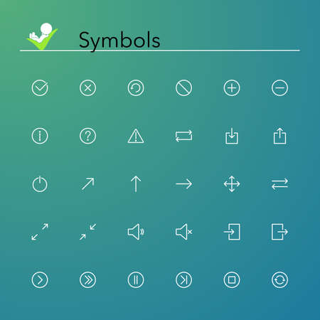 Symbols line Icons set  Vector illustration  Vector